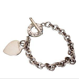 Tiffany & Co. Jewelry - TIFFANY & CO. HEART PENDANT TOGGLE BRACELET